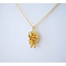 Tiny Tussie Mussie M necklace